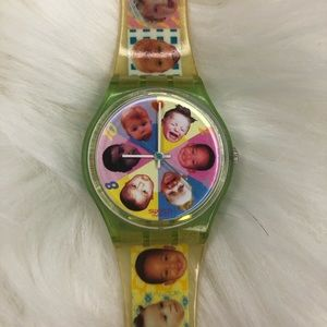 1995 vintage baby face swatch watch.